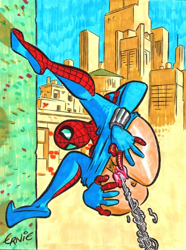 spider and kiss spiderman girl Louise de la valliere anime
