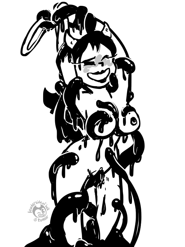 angel machine ink and the bendy Oswald the lucky rabbit and ortensia