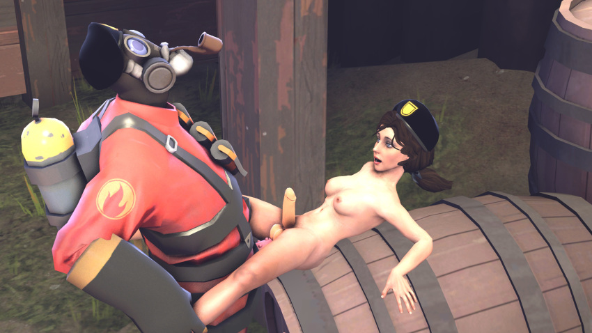 female team fortress 2 pyro Inky, blinky, pinky, and clyde's ghostly dance